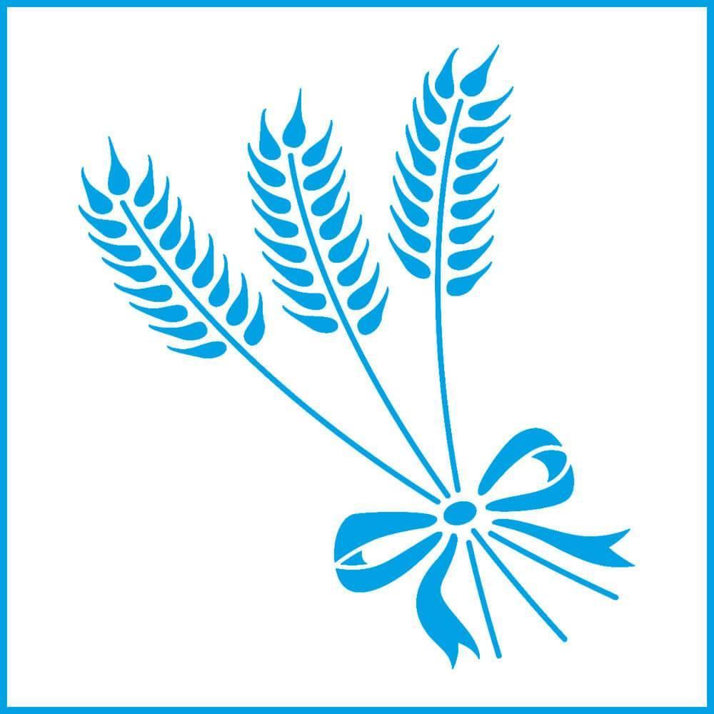 Wheat Ears 4x4in : Laser Cut Diy Reusable Stencil 10x10cm Seed Grain Kitchen