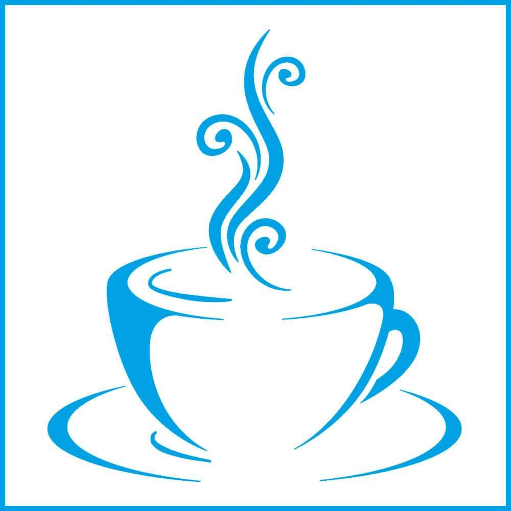 Tea Cup 4x4in : Laser Cut Diy Reusable Stencil 10x10cm Coffee Kitchen Decor Wood