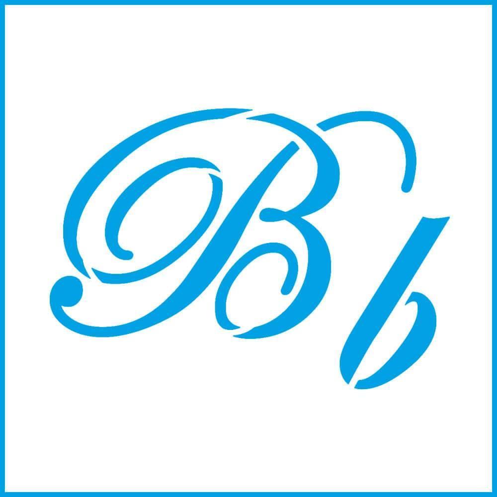 Letter B 4x4in : Laser Cut Diy Reusable Stencil 10x10cm Calligraphy Alphabet