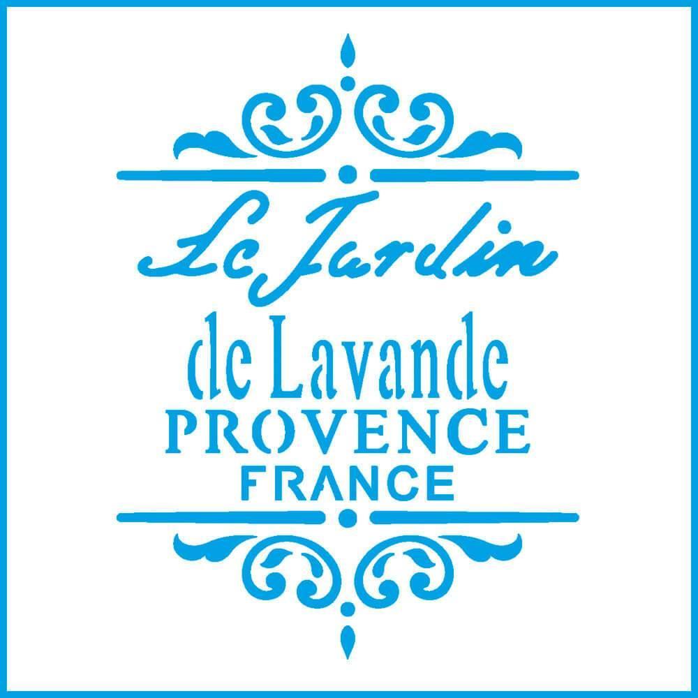 Provence France 4x4in : Laser Cut Diy Reusable Stencil 10x10cm Le Jardin