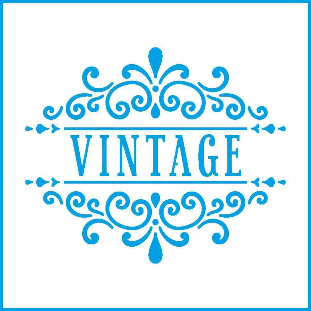 Vintage Seal 4x4in : Laser Cut Diy Reusable Stencil 10x10cm Arabesque Kitchen