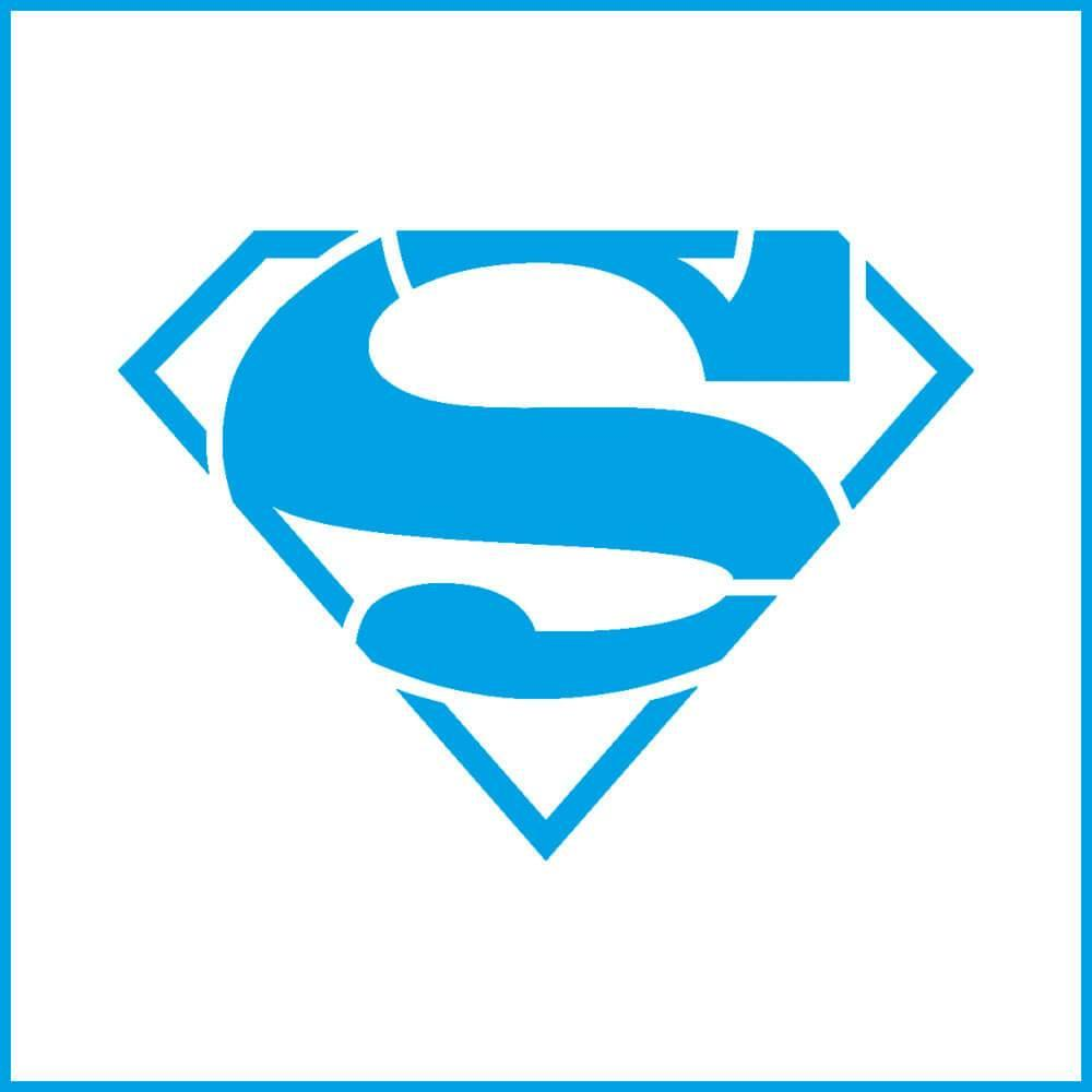 Superman 4x4in : Laser Cut Diy Reusable Stencil 10x10cm Hero Film Character