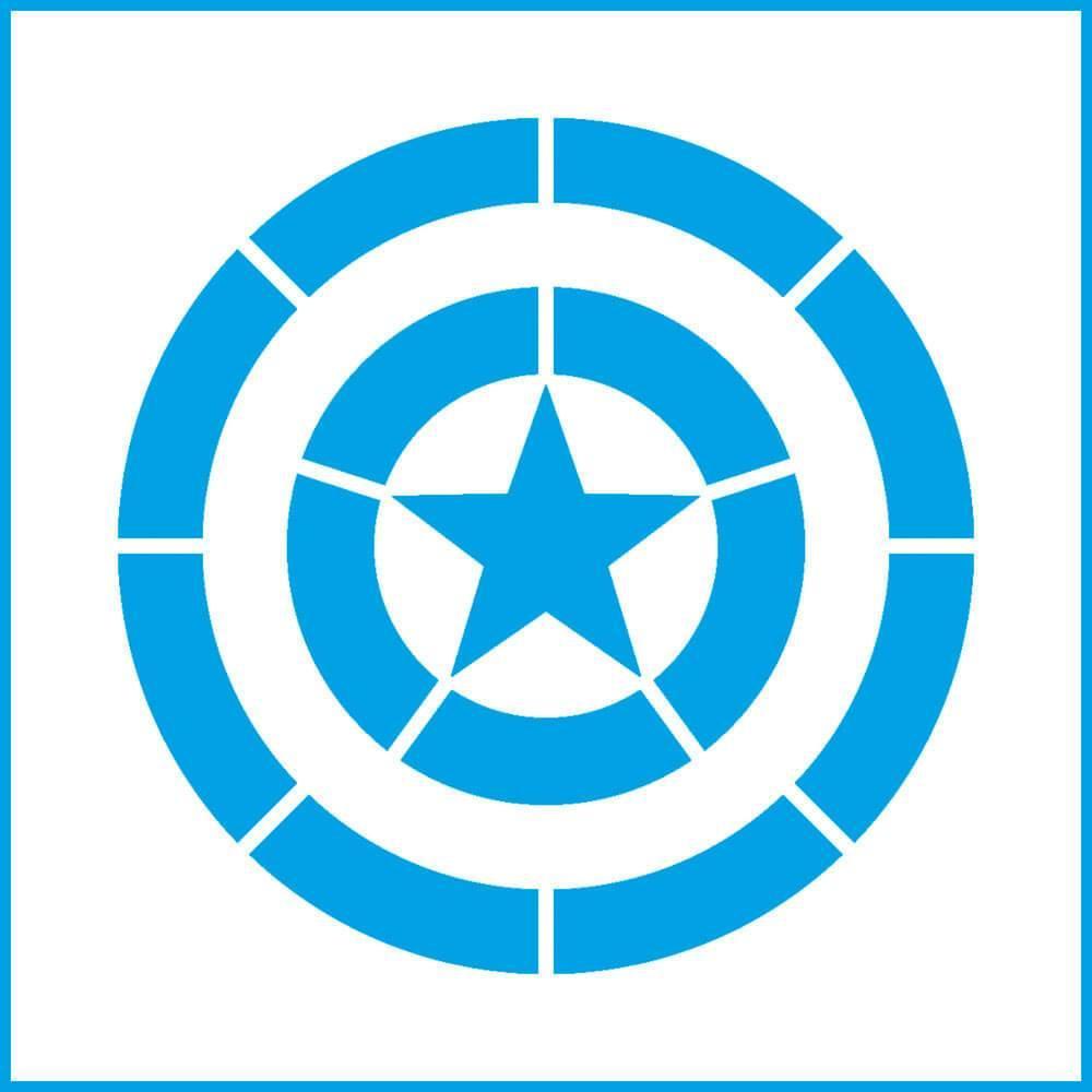 Captain America Shield 4x4in : Laser Cut Diy Reusable Stencil 10x10cm Hero Film