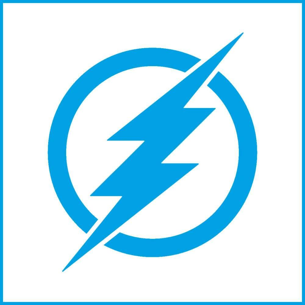 The Flash 4x4in : Laser Cut Diy Reusable Stencil 10x10cm Super Hero Movie