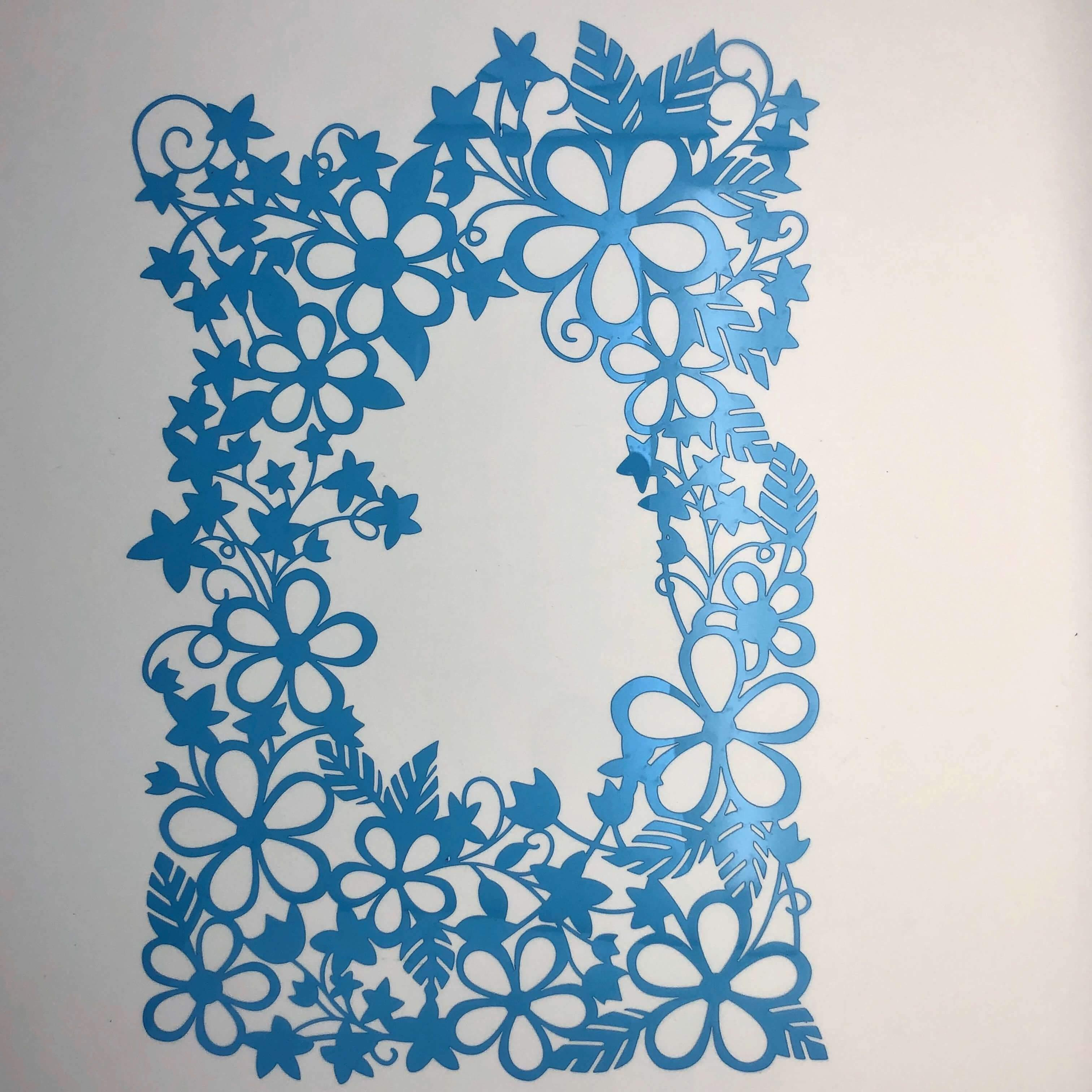 Arabesque Flowers 6.69 x 13 in : Template Diy Reusable Laser Cut Stencils