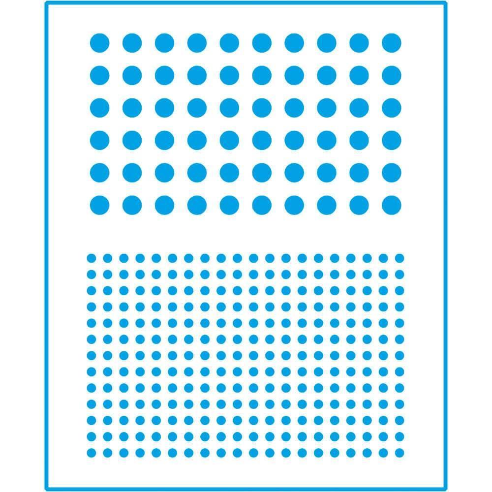 Dots Circles 6 3/4 x 8 1/4 in : Laser Cut Stencil Diy Reusable 17x21cm Durable