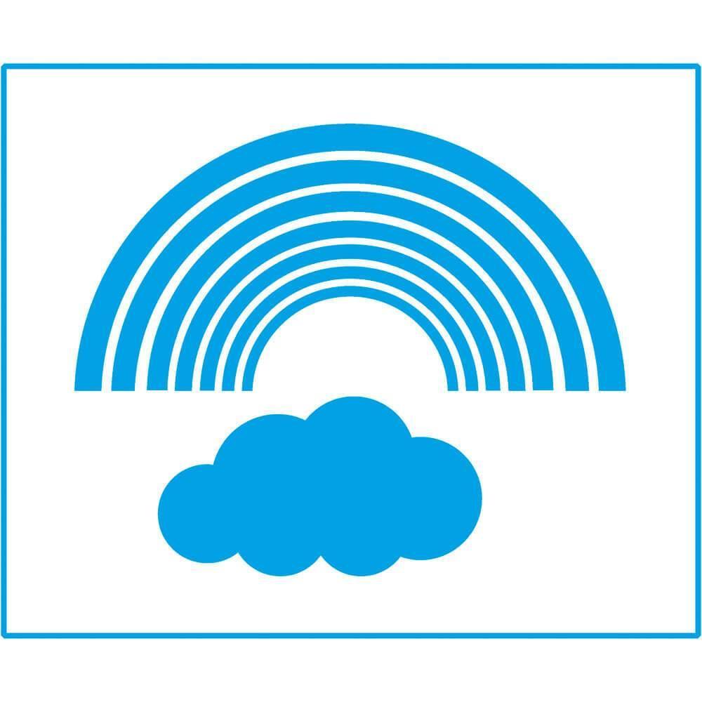 Cloud Rainbow 6 3/4 x 8 1/4 in : Laser Cut Stencil Diy Reusable 17x21cm Kid Wall