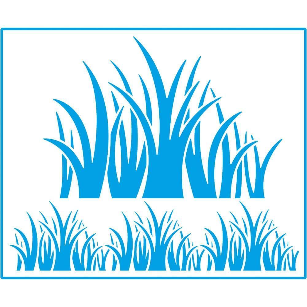 Trees Grass 6 3/4 x 8 1/4 in : Laser Cut Stencil Diy Reusable 17x21cm Garden