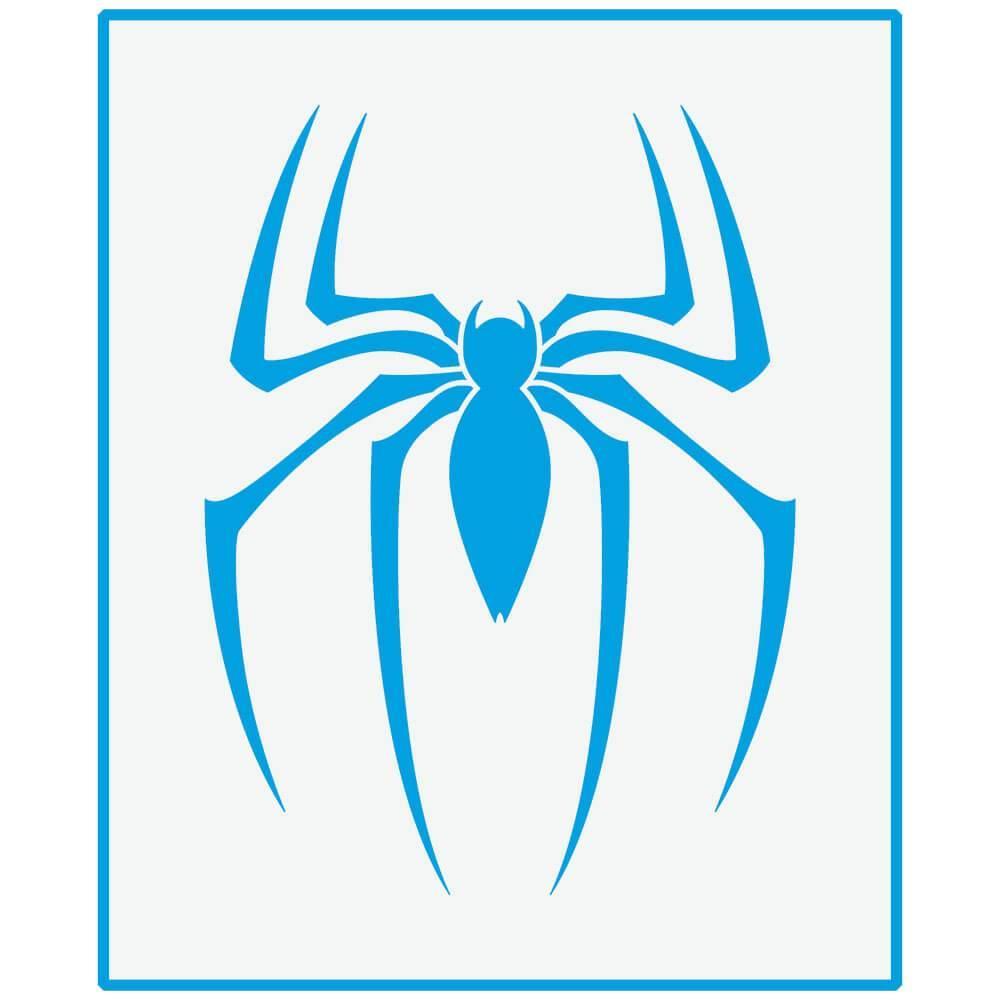 Spider Man 6 3/4 x 8 1/4 in : Laser Cut Stencil Diy Reusable 17x21cm Kid Room