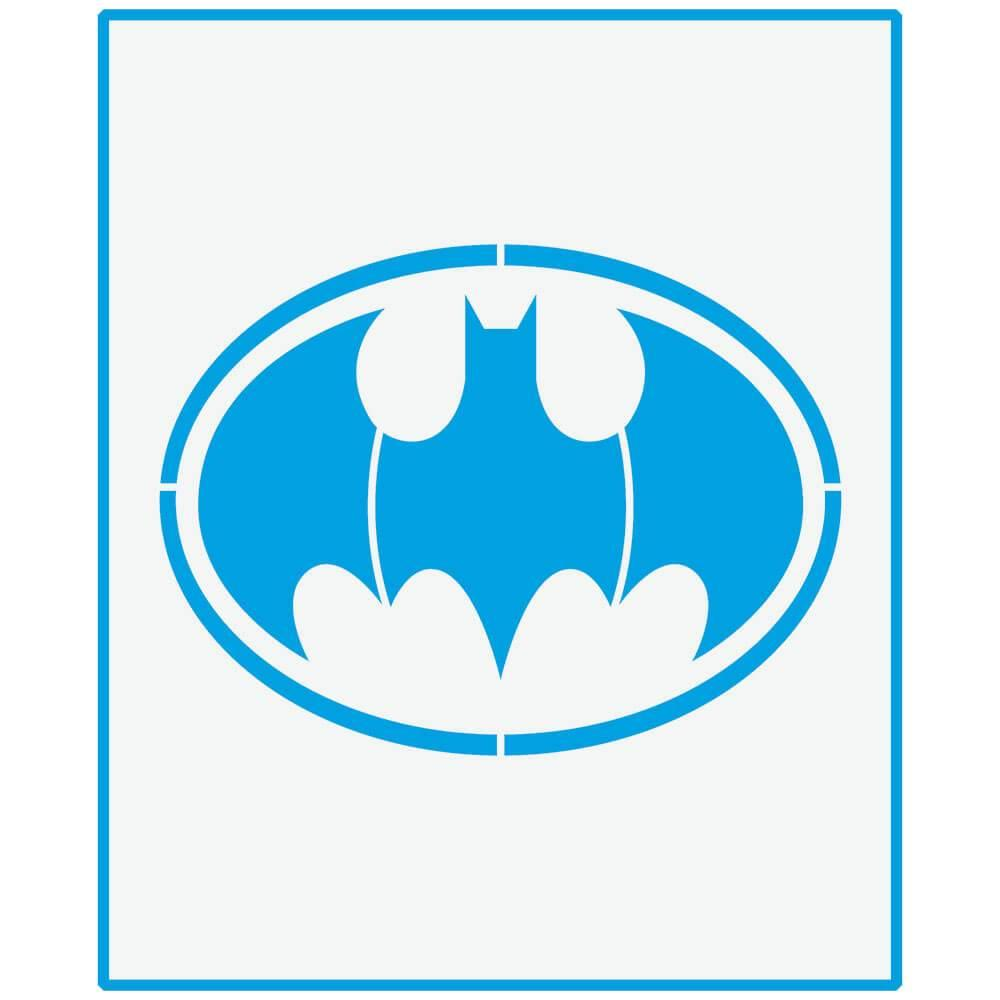 Batman 6 3/4 x 8 1/4 in : Laser Cut Stencil Diy Reusable 17x21cm Child Room Wall Decor Pattern Template Crafters Wood Fabric Super Hero Movie