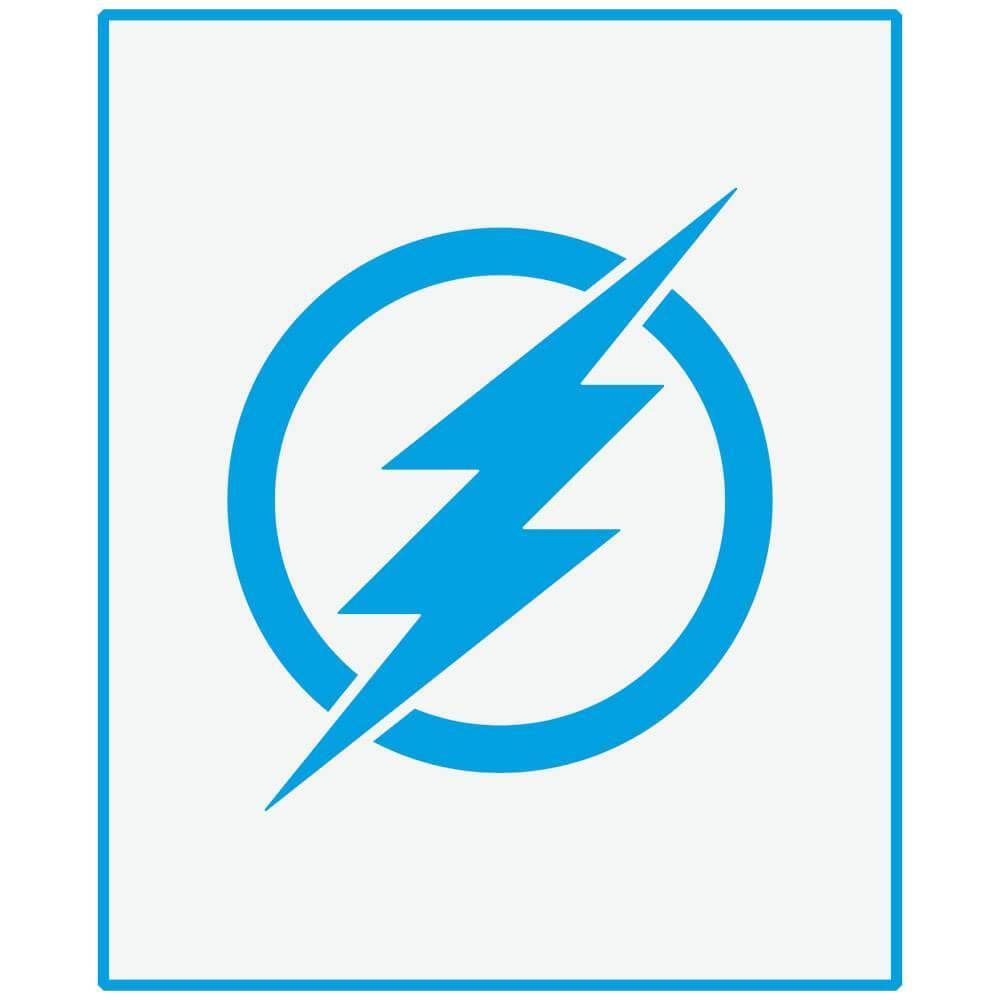 The Flash 6 3/4 x 8 1/4 in : Laser Cut Stencil Diy Reusable 17x21cm Lightning