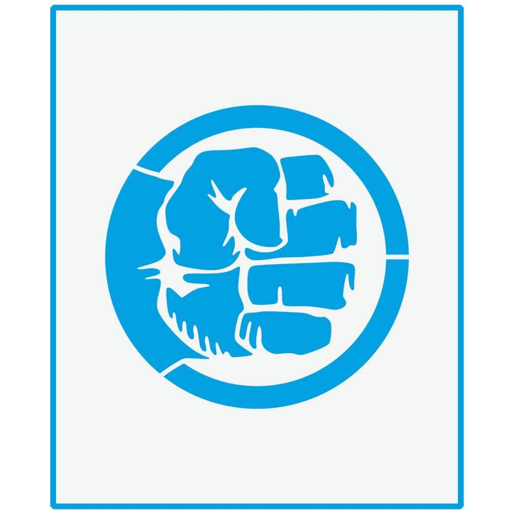 Hulk Fist 6 3/4 x 8 1/4 in : Laser Cut Stencil Diy Reusable 17x21cm Kid Room