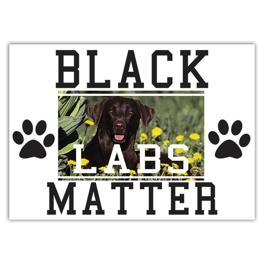 Labrador Flowers Black Labs Matter : Gift Sticker Dog Puppy Pet Garden Animal Cute