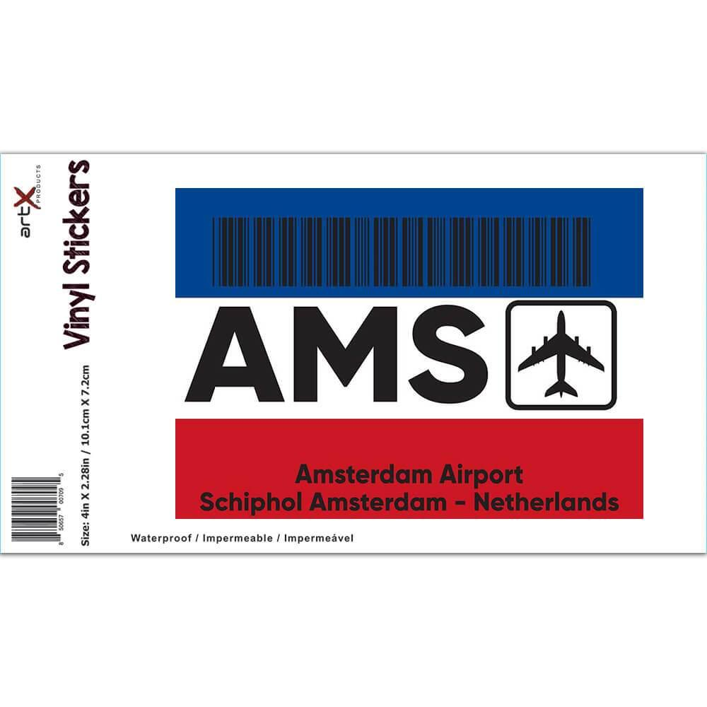 Netherlands Amsterdam Airport Schiphol AMS : Gift Sticker Travel Airline AIRPORT