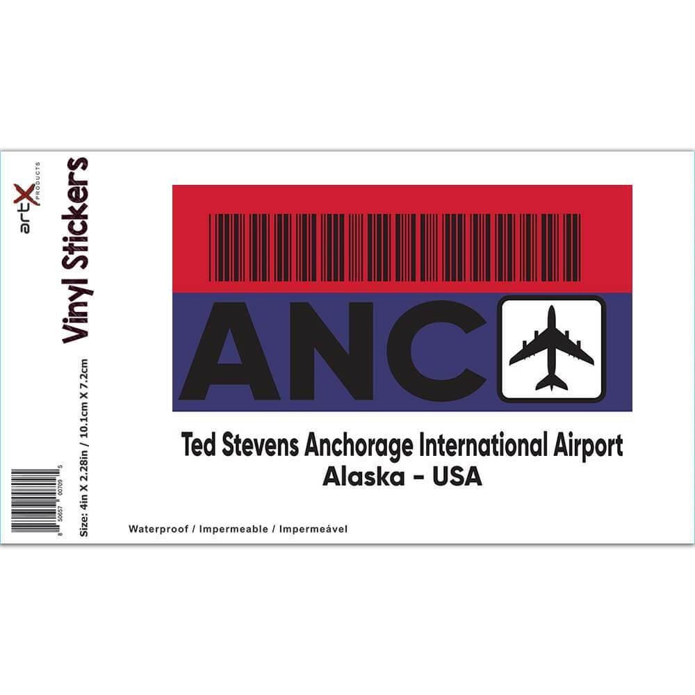 USA Ted Stevens Anchorage Airport Alaska ANC : Gift Sticker Travel Airline AIRPORT