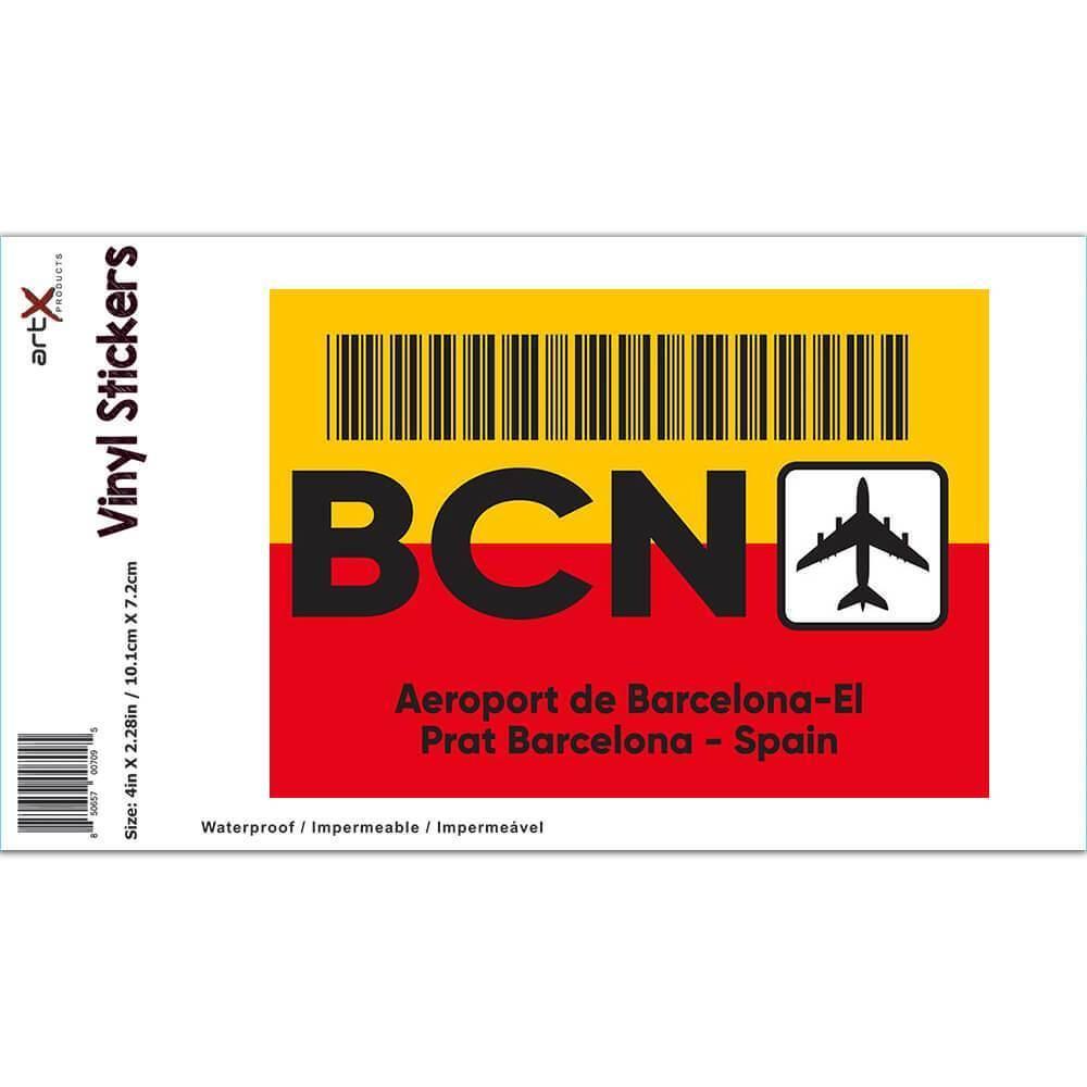 Spain Aeroport de Barcelona-El Prat BCN : Gift Sticker Travel Airline Pilot AIRPORT