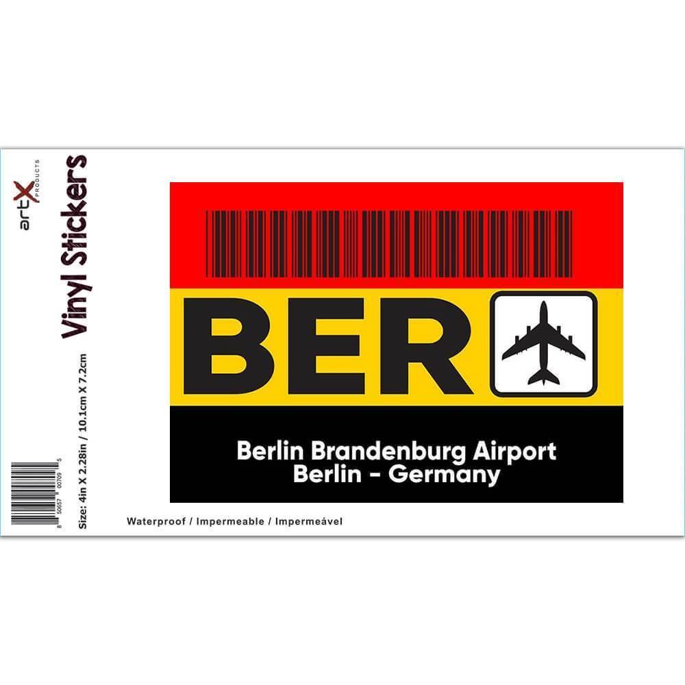 Germany Berlin Brandenburg Airport BER : Gift Sticker Travel Airline Pilot AIRPORT