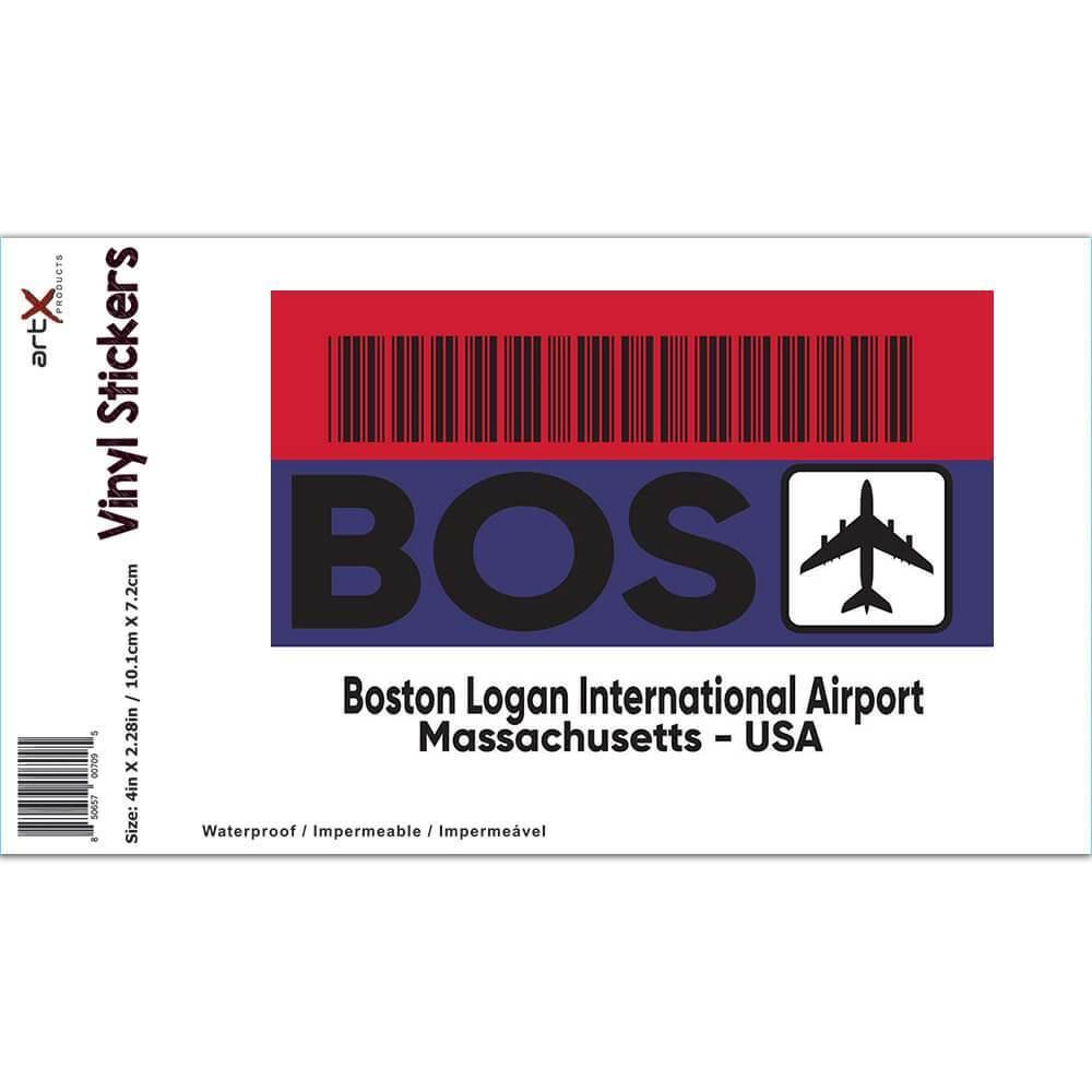 USA Boston Logan Airport Massachusetts BOS : Gift Sticker Travel Airline AIRPORT