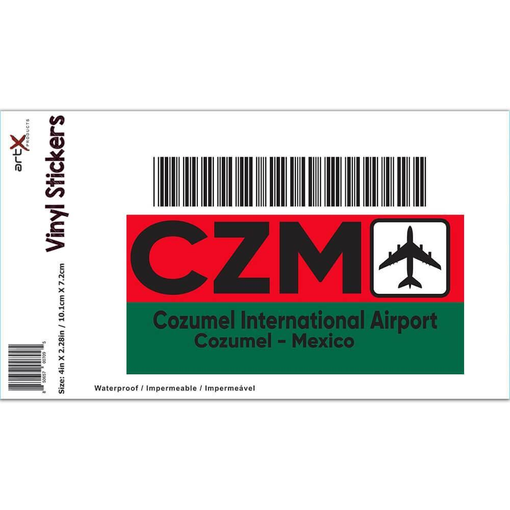 Mexico Cozumel Airport Cozumel CZM : Gift Sticker Travel Airline Pilot AIRPORT