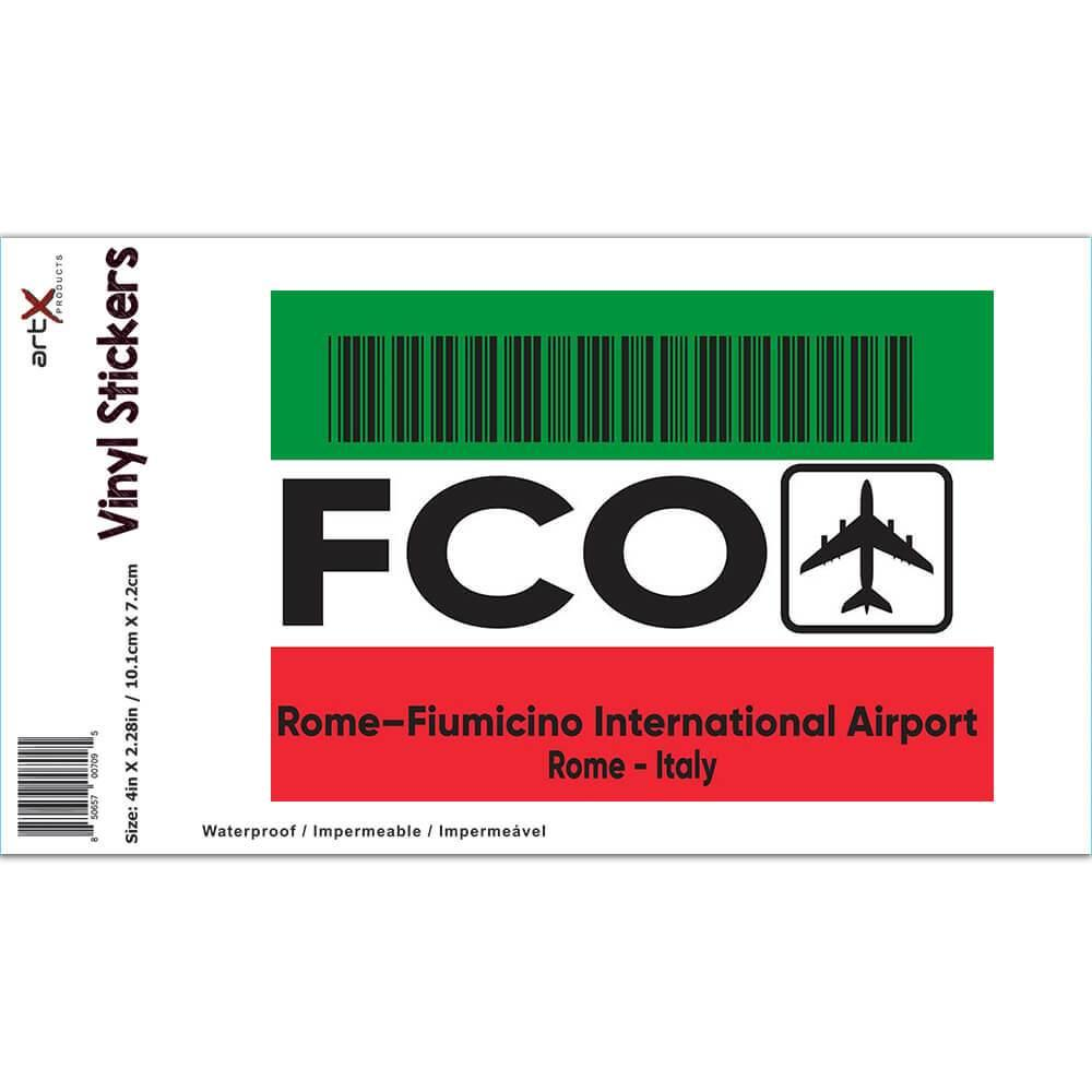 Italy Rome–Fiumicino Airport Rome FCO : Gift Sticker Travel Airline Pilot AIRPORT