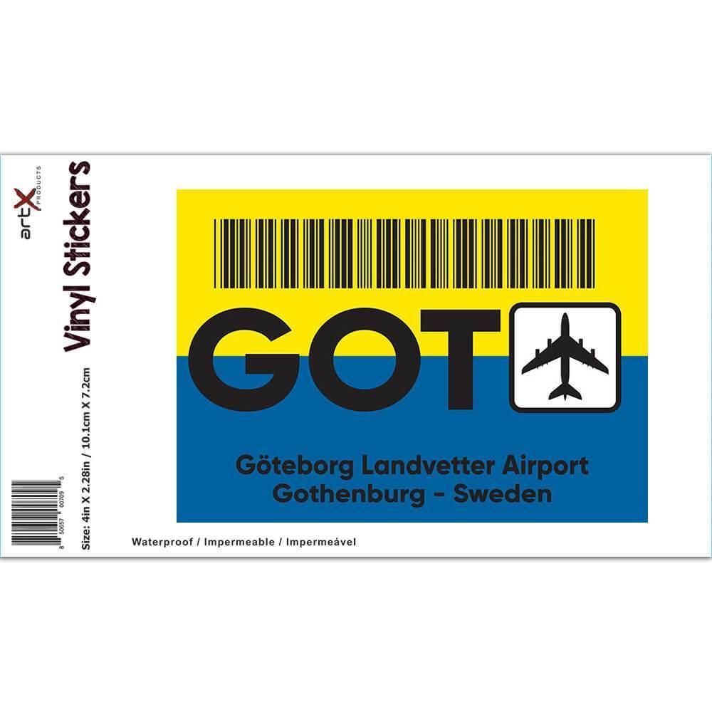 Sweden Landvetter Airport Gothenburg GOT : Gift Sticker Travel Airline AIRPORT