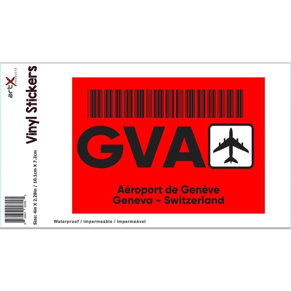 Switzerland Aéroport de Genève Geneva GVA : Gift Sticker Travel Airline AIRPORT