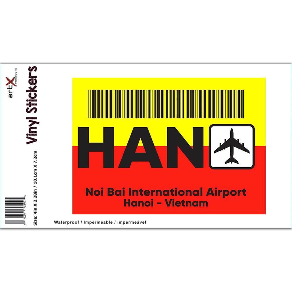Vietnam Noi Bai Airport Hanoi HAN : Gift Sticker Travel Airline Pilot AIRPORT