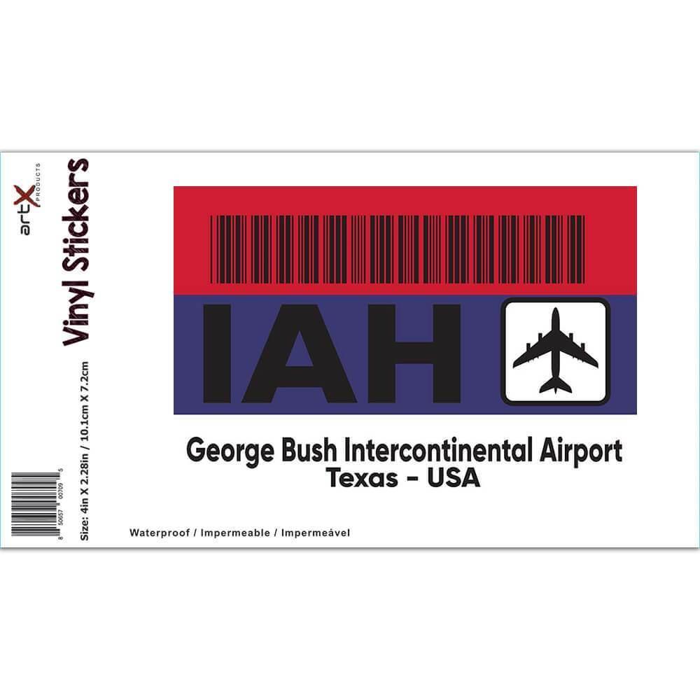 USA George Bush Airport Texas IAH : Gift Sticker Travel Airline Pilot AIRPORT