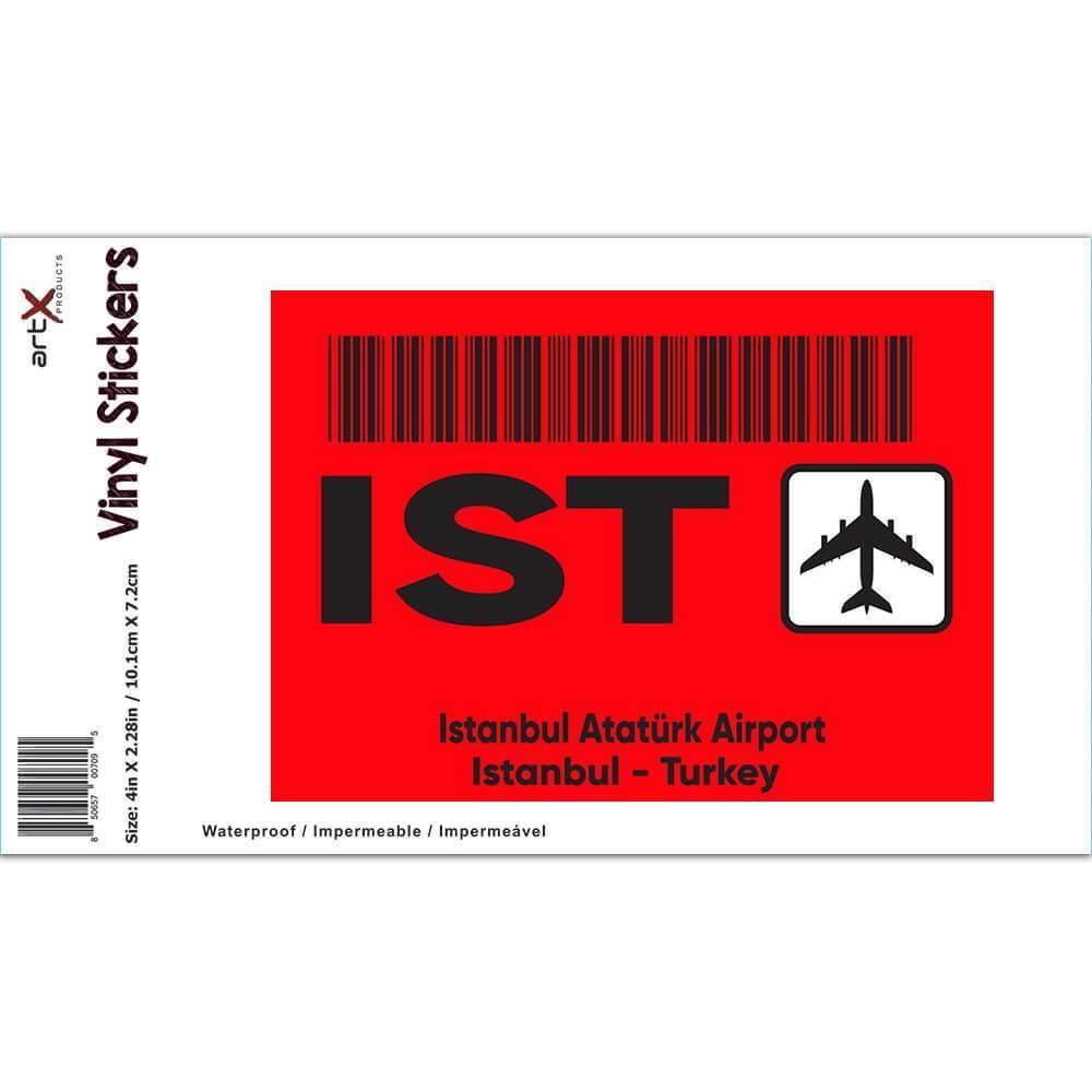 Turkey Istanbul Atatürk Airport IST : Gift Sticker Travel Airline Pilot AIRPORT