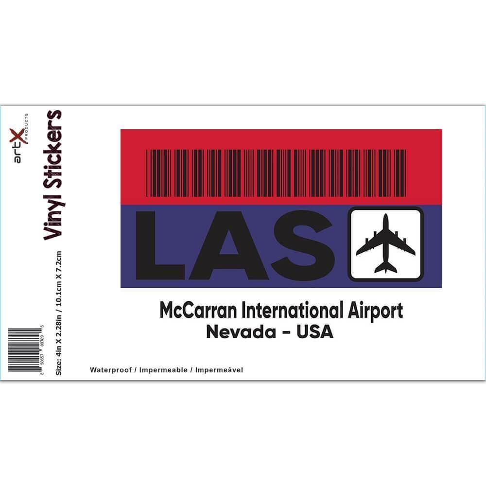 USA McCarran Airport Nevada LAS : Gift Sticker Travel Airline Pilot AIRPORT