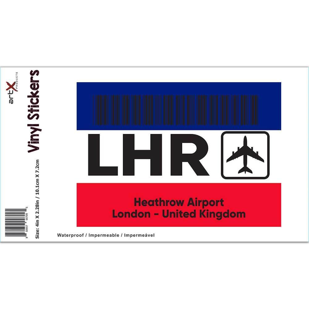 United Kingdom Heathrow Airport London LHR : Gift Sticker Travel Airline Pilot