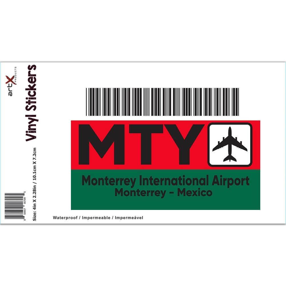 Mexico Monterrey Airport Monterrey MTY : Gift Sticker Travel Airline Pilot AIRPORT