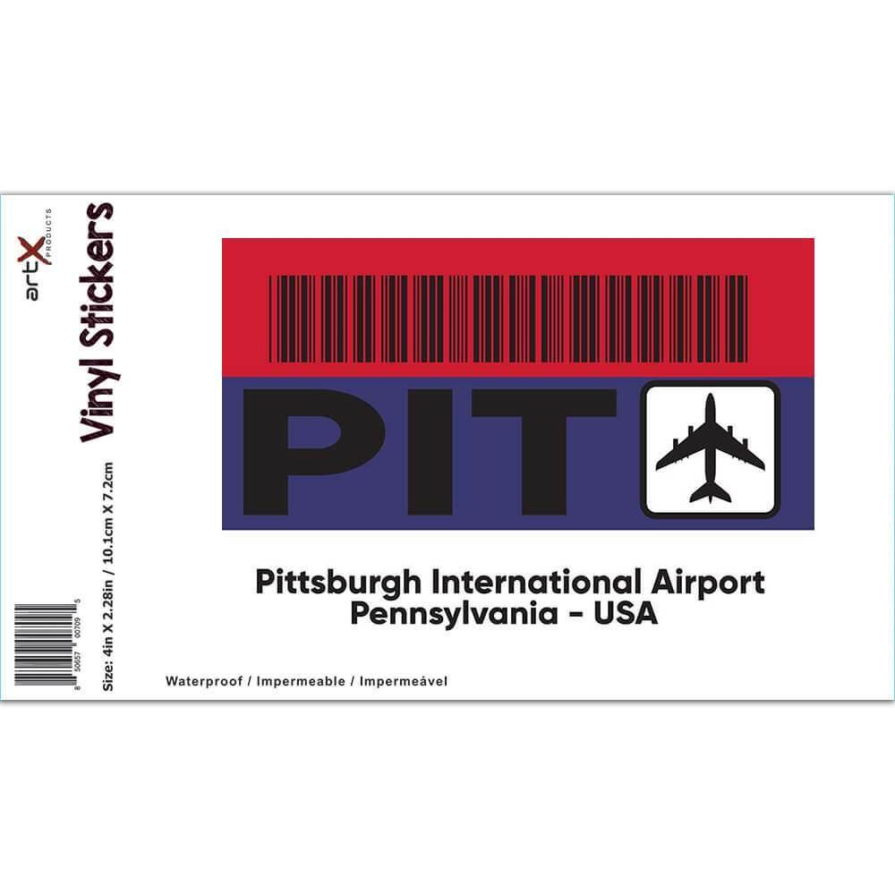 USA Pittsburgh Airport Pennsylvania PIT : Gift Sticker Travel Airline Pilot AIRPORT