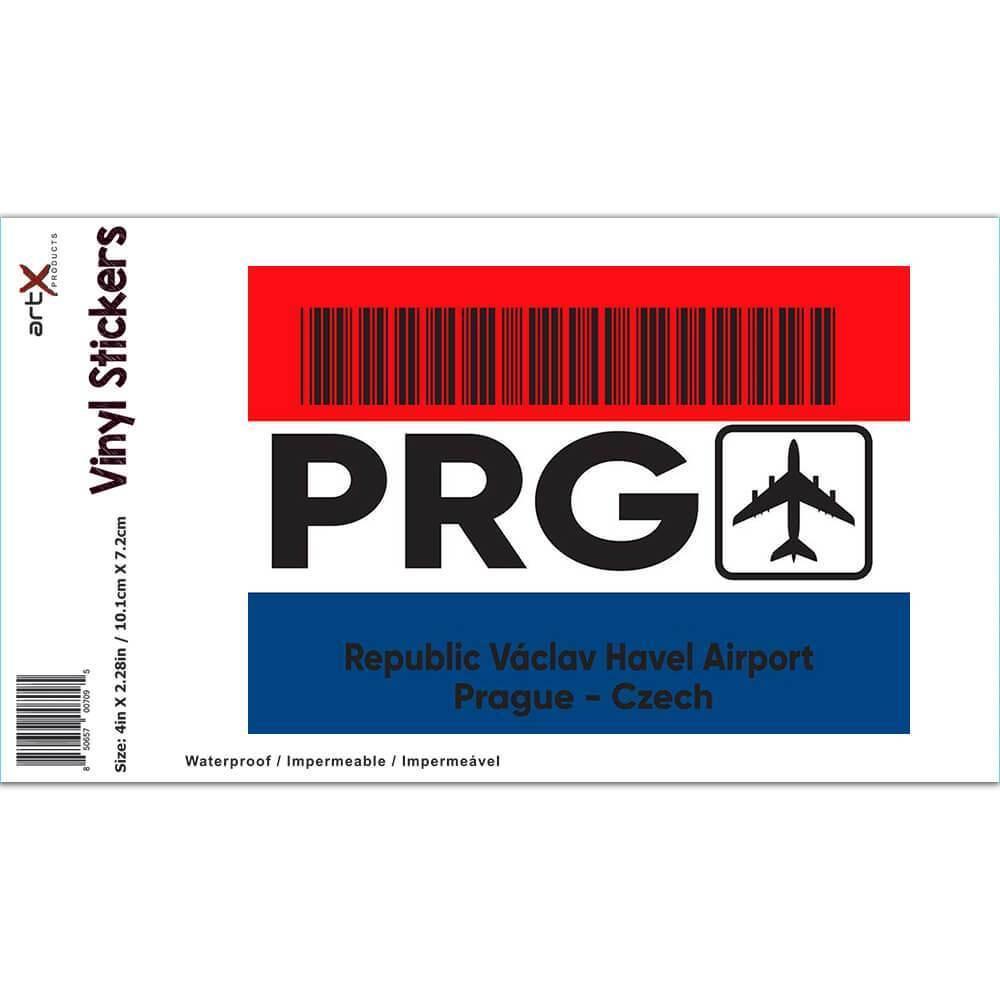 Czech Republic Václav Havel Airport Prague PRG : Gift Sticker Travel Airline Pilot