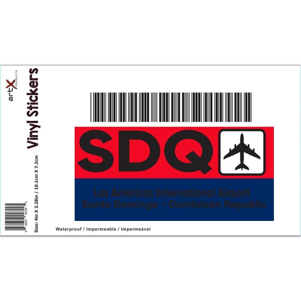 Dominican Republic Américas Airport Santo Domingo SDQ : Gift Sticker Travel Airline