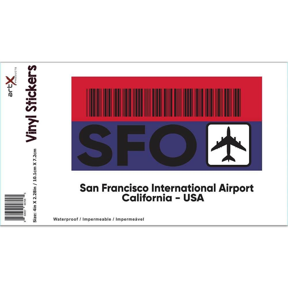 USA San Francisco Airport California SFO : Gift Sticker Travel Airline Pilot