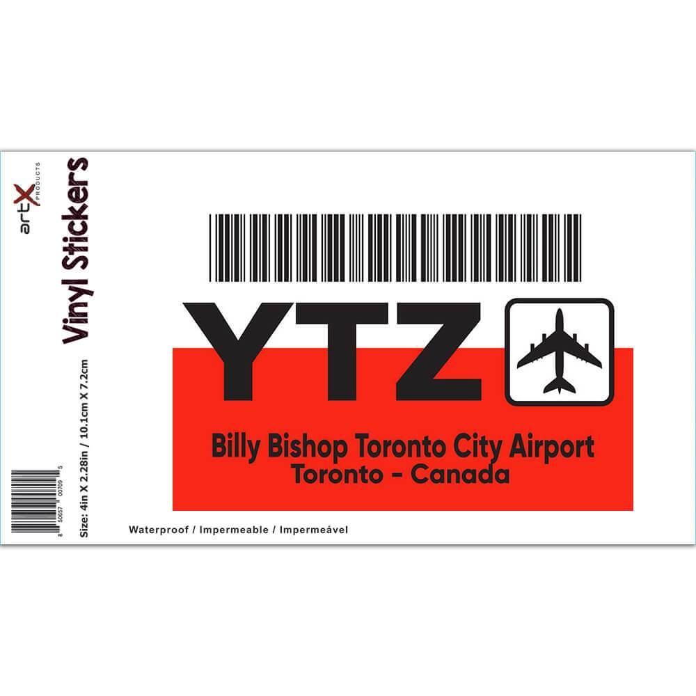 Canada Billy Bishop Toronto City Airport YTZ : Gift Sticker Travel Airline Pilot