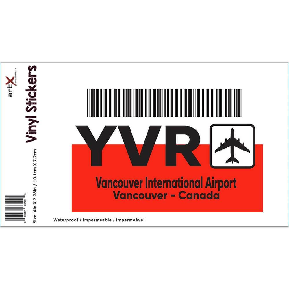 Canada Vancouver Airport Vancouver YVR : Gift Sticker Travel Airline Pilot AIRPORT