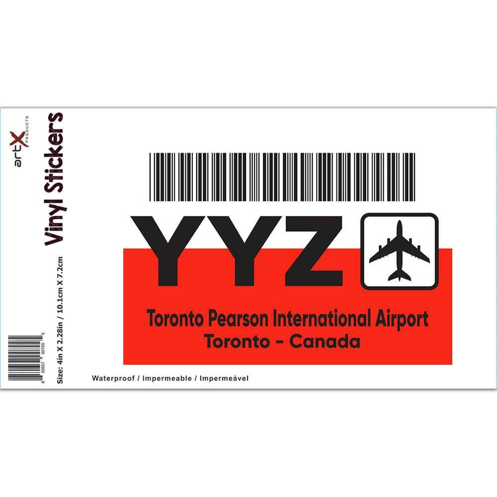 Canada Toronto Pearson Airport YYZ : Gift Sticker Travel Airline Pilot AIRPORT