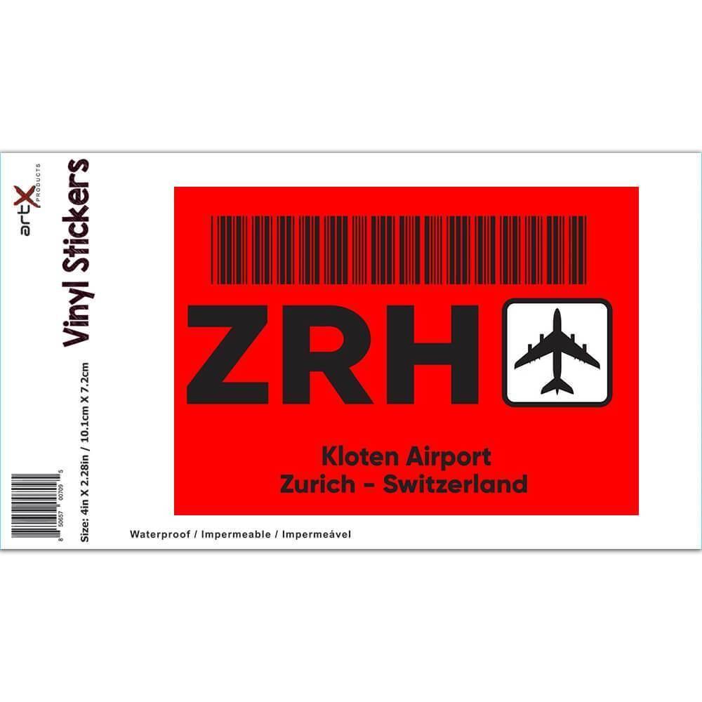 Switzerland Kloten Airport Zurich ZRH : Gift Sticker Travel Airline Pilot AIRPORT