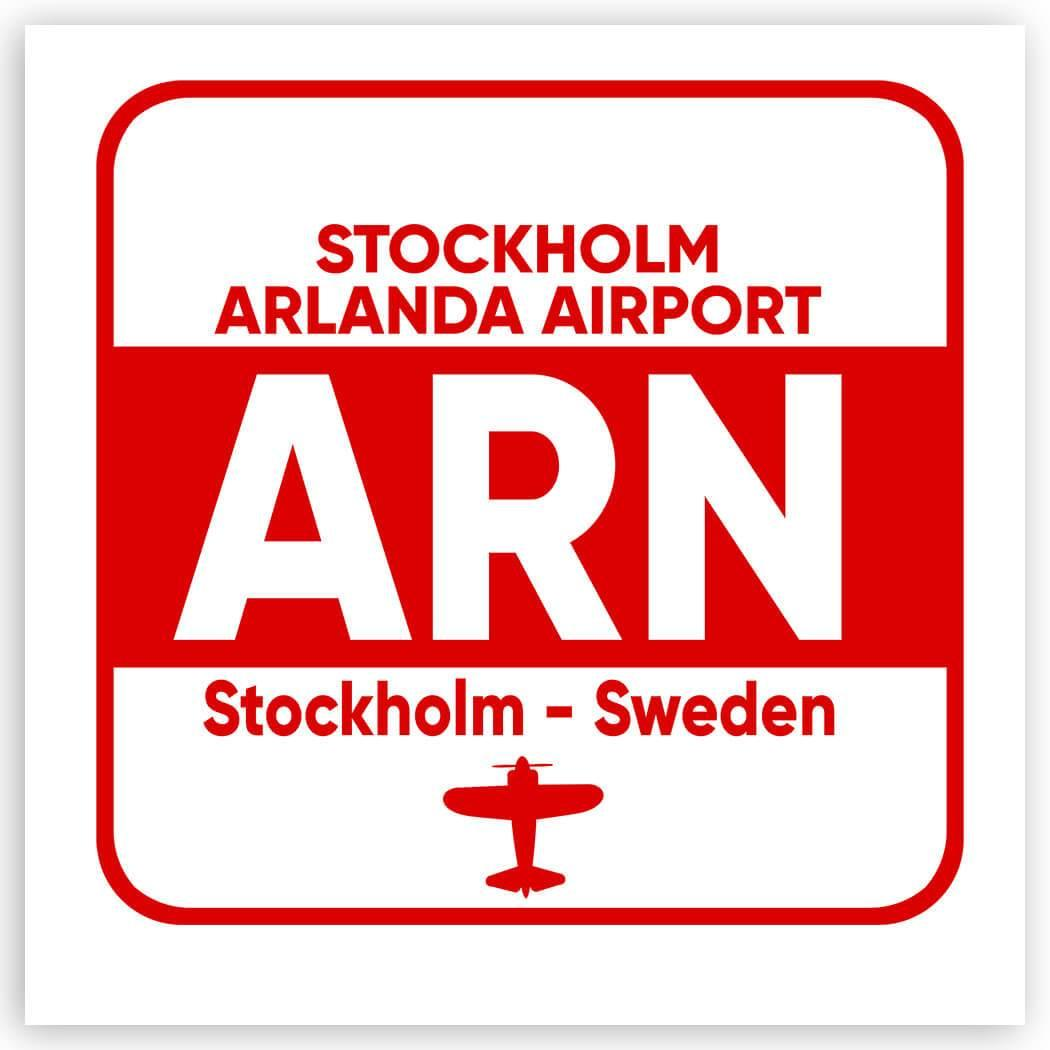 Sweden Stockholm Arlanda Airport ARN : Gift Sticker Travel Airline Pilot AIRPORT