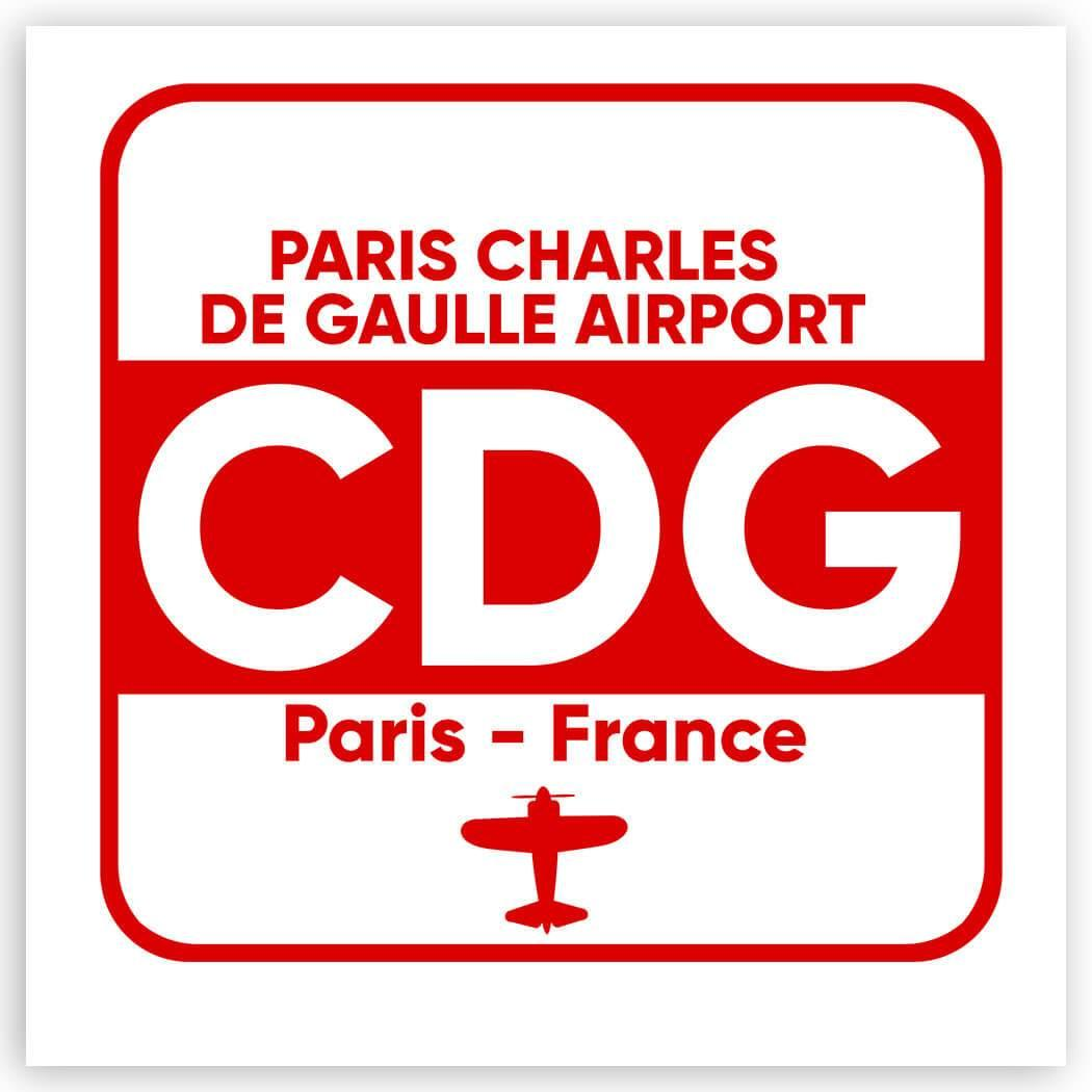 France Paris Charles de Gaulle Airport CDG : Gift Sticker Travel Airline AIRPORT