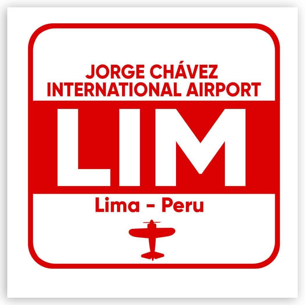 Peru Jorge Chávez Airport Lima LIM : Gift Sticker Travel Airline Pilot AIRPORT