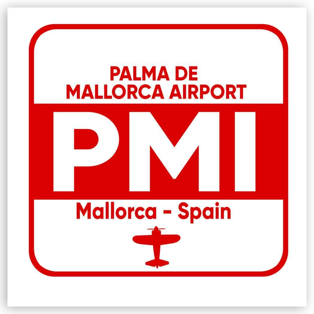 Spain Palma de Mallorca Airport PMI : Gift Sticker Travel Airline Pilot AIRPORT
