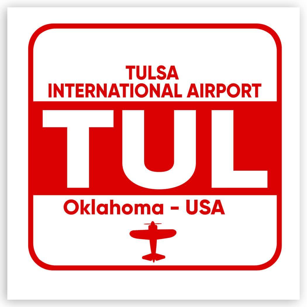 USA Tulsa Airport Oklahoma TUL : Gift Sticker Travel Airline Pilot AIRPORT