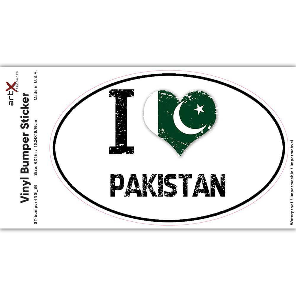 I Love Pakistan : Gift Sticker Heart Flag Country Crest Pakistani Expat