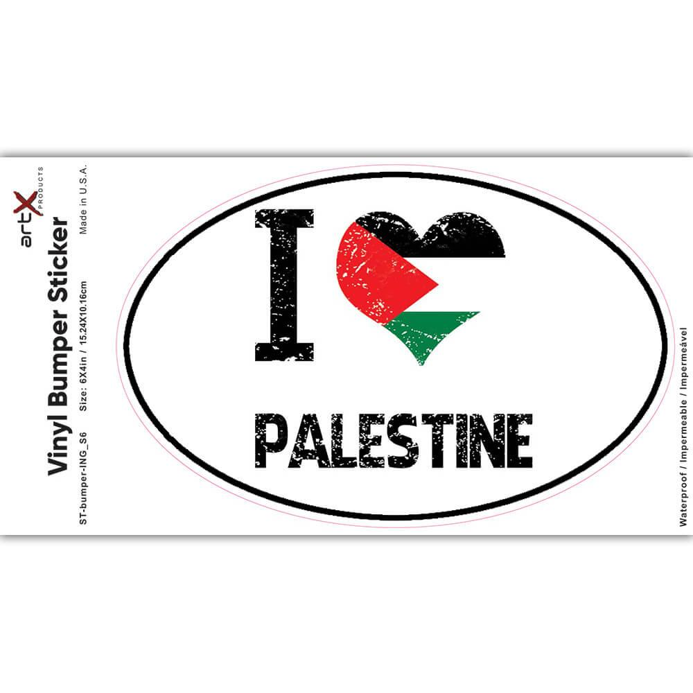 I Love Palestine : Gift Sticker Heart Flag Country Crest Palestinian Expat
