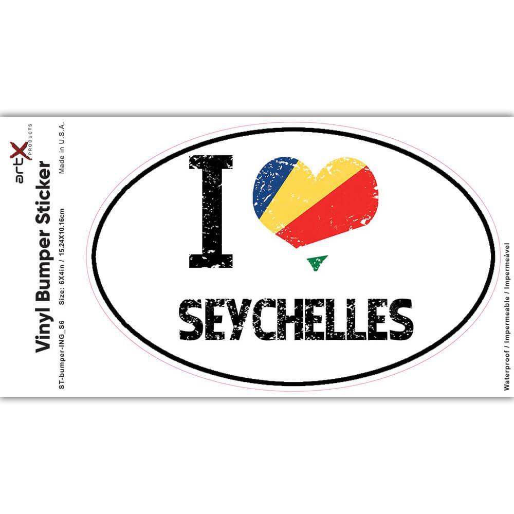 I Love Seychelles : Gift Sticker Heart Flag Country Crest Expat