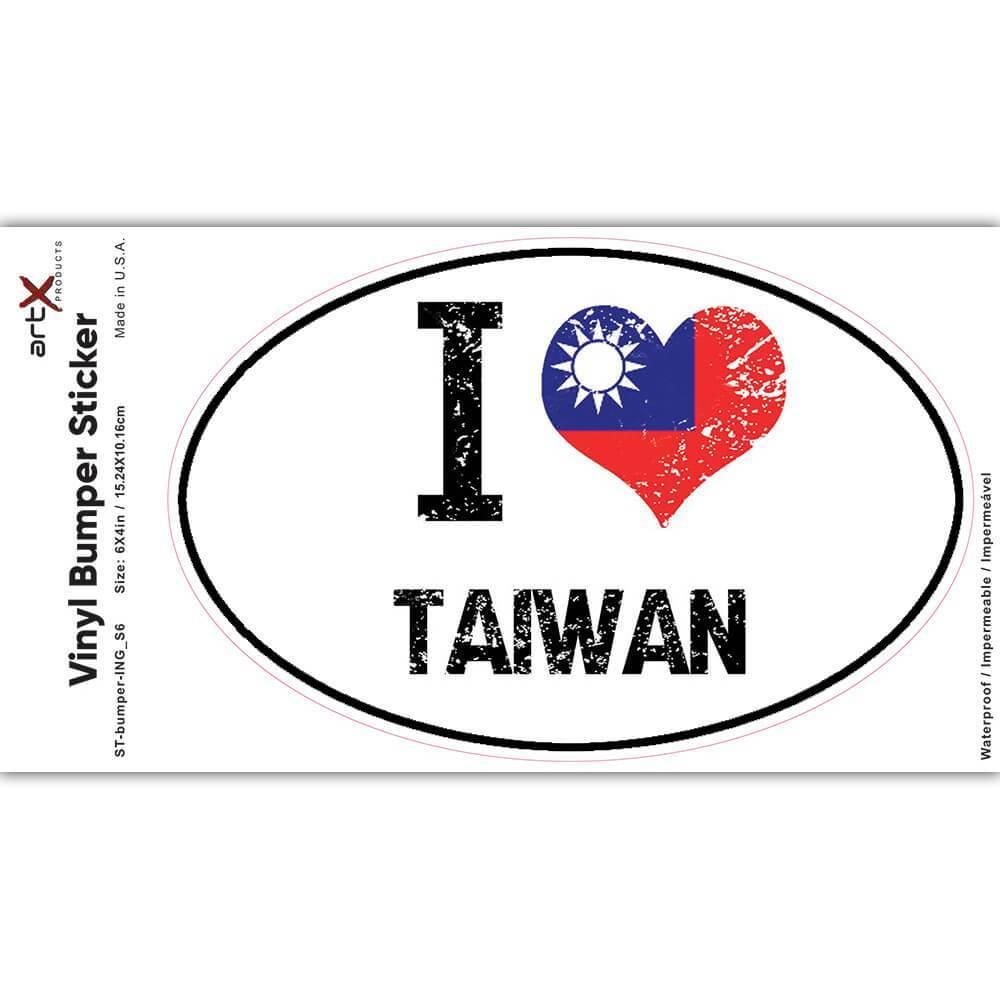 I Love Taiwan : Gift Sticker Heart Flag Country Crest Taiwanese Expat
