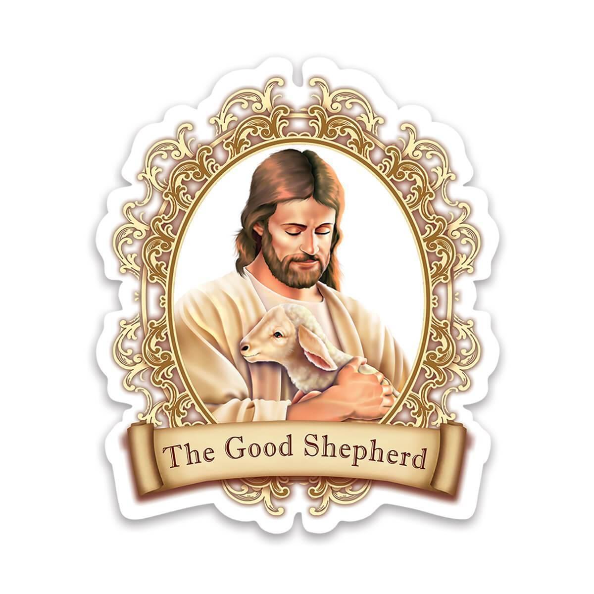 The Good Shepherd : Gift Sticker Jesus Catholic Religious Religion Classic Faith